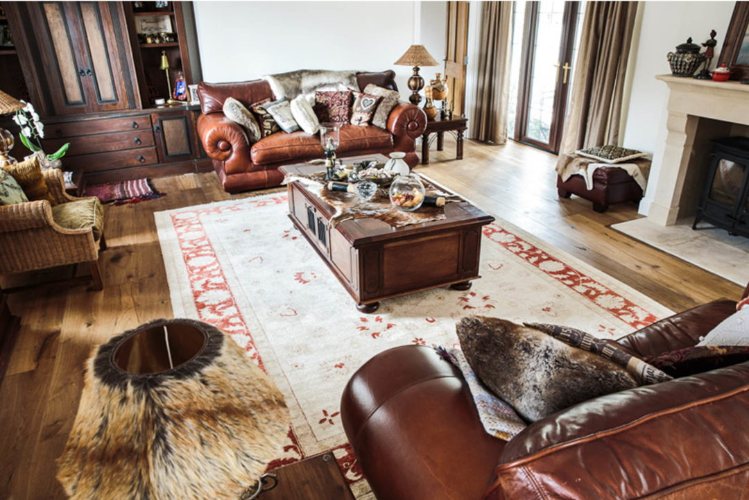 reclaimed,earth,fumed,earth,leather,sores,settee,chairs,lounge,front room,rug